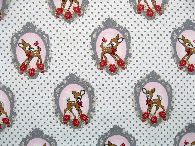 bambi pois gris coton 2