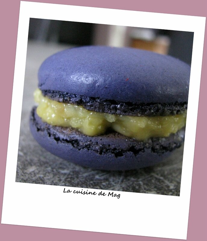 Macarons reglisse violette 2
