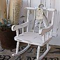 Rocking chair ancien ... entièrement réalisé à la