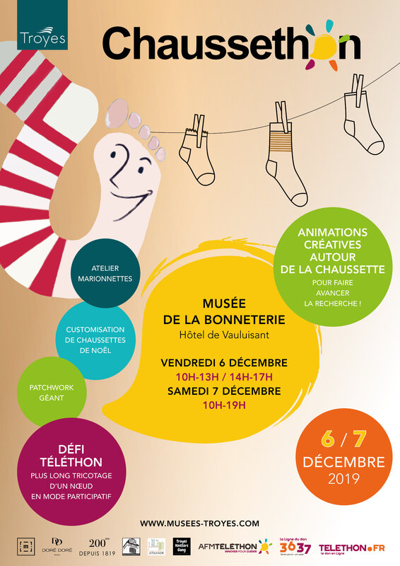 Telethon Troyes Chaussette