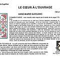 32-Anne-Marie GUEGANIC-LE CŒUR À L'OUVRAGE-Quilt La Fugitive