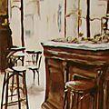"""Tableau """"Le Comptoir"""" de Noémie Dupuis Hermand"""