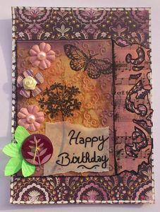 Carte anniversaire Bibiche septembre 2012