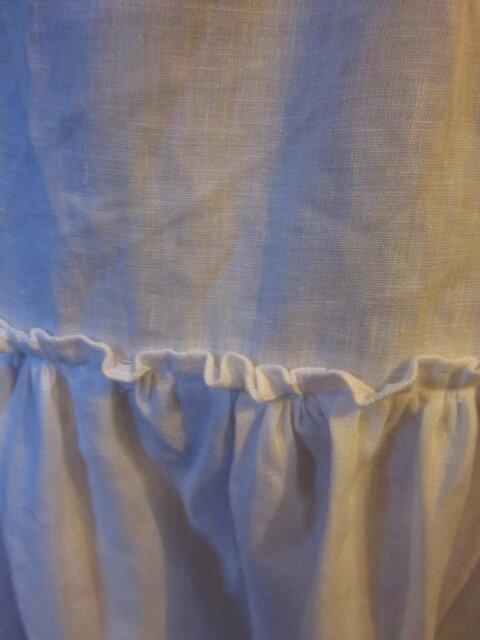 Jupon CLEMENTINE en lin blanc - taille 56 (4)