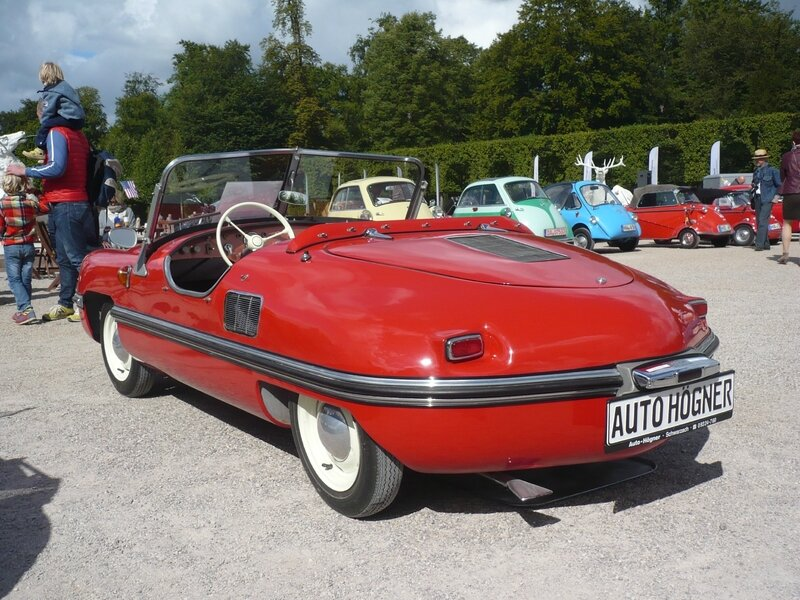 BAYERISCHE AUTOWERKE Spatz 200 roadster 1956 Schwetzingen (2)