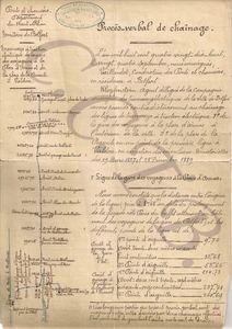 PV page 1 chaînage 24 sept 1898 TEB CCTB