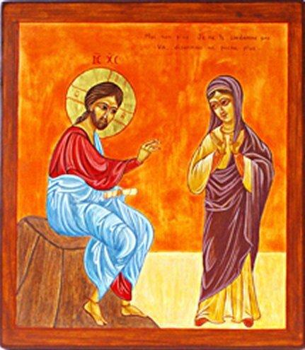 Jésus et la femme adultere, icône