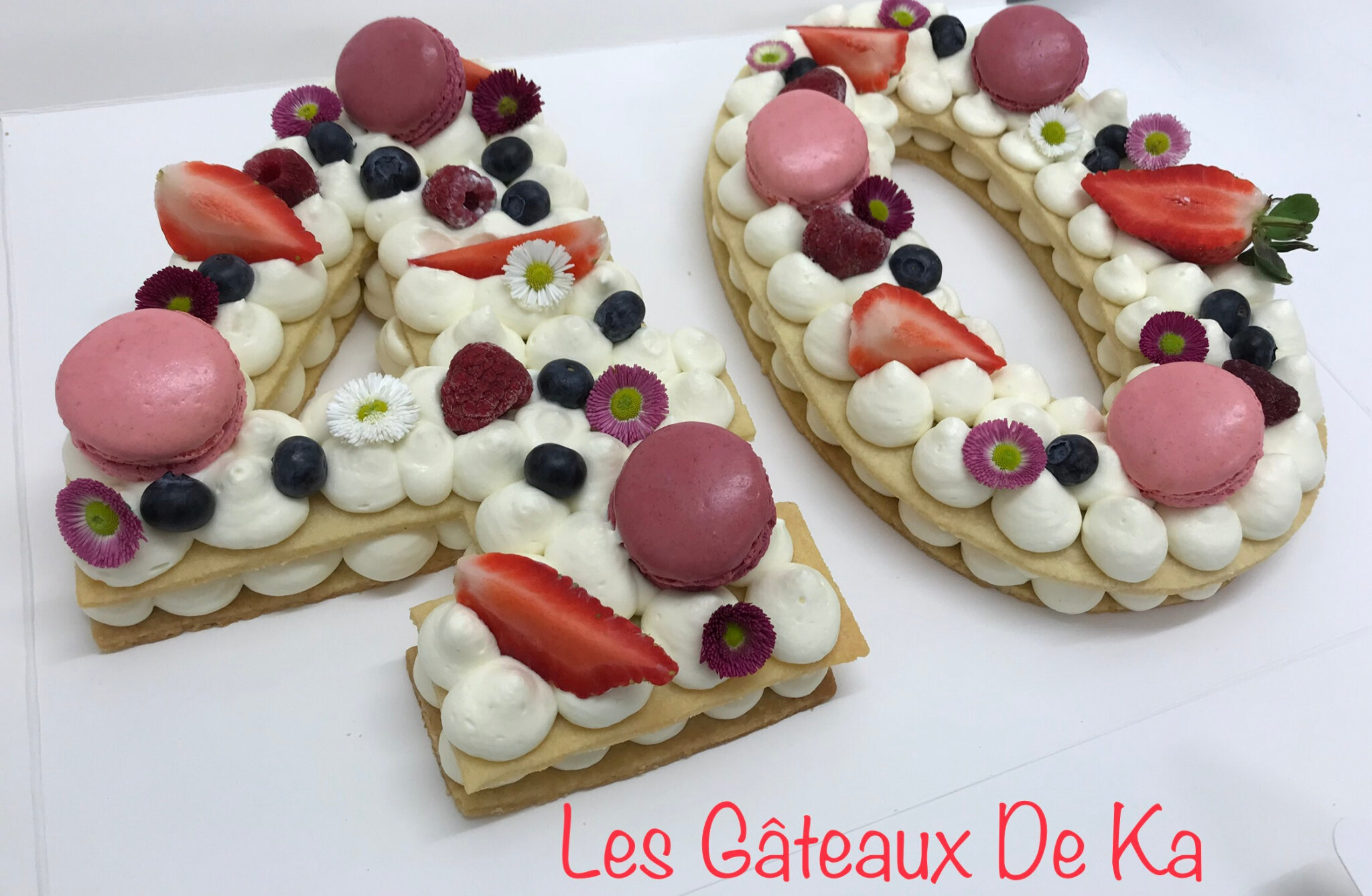 numbercake fruits rouges