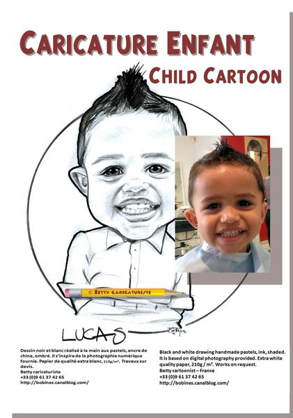 caricature enfant child cartoon