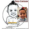 Caricature petit garçon - child cartoon
