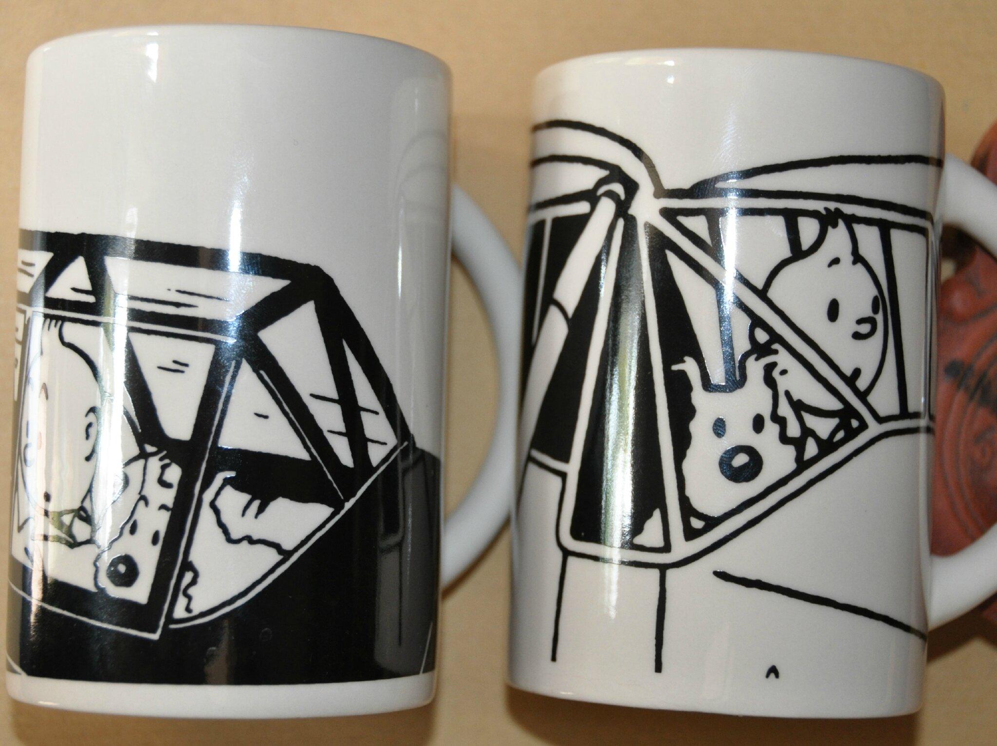 lot de 2 mugs Tintin