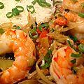 Crevettes tigrées aux saveurs thaïes