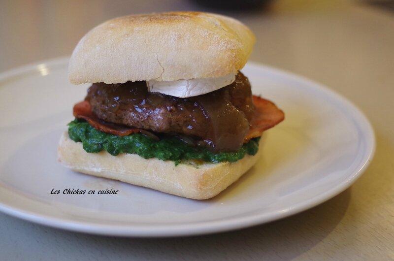 Burger chèvre épinards (2)