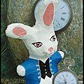 Petit lapin blanc du pays des merveilles