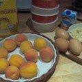 Gratin d'abricots aux amandes