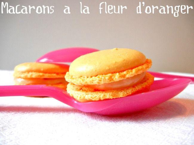 macaron fleur oranger