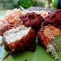 Boulettes de porc au crabe