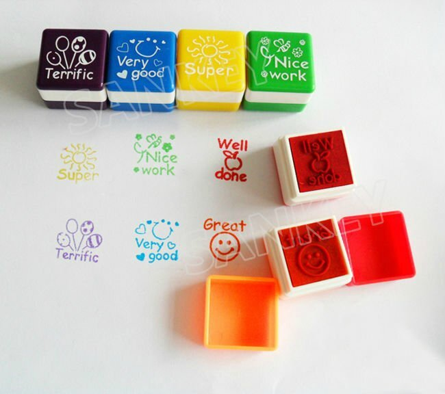 24pcs-lot-New-English-Teacher-Encourage-Comment-Toy-Seal-Stamp-Gift-Track-Ship