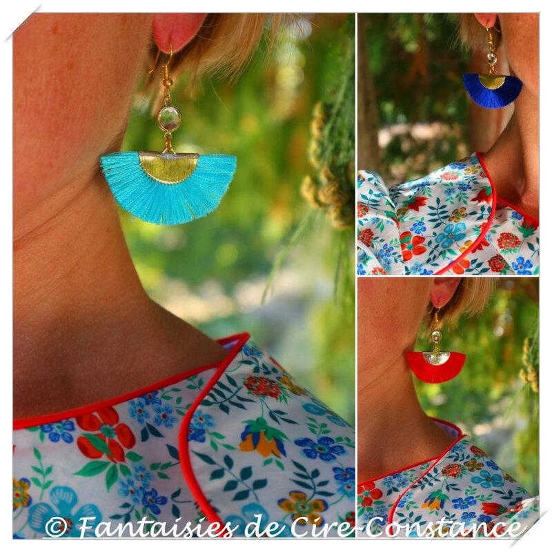 BO Papeete bleu roi turquoise rouge