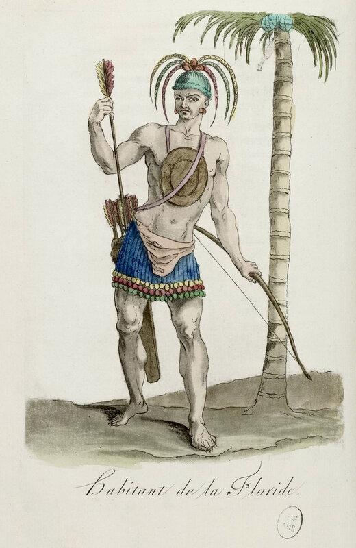 habitant de la Floride, dessin, 1784