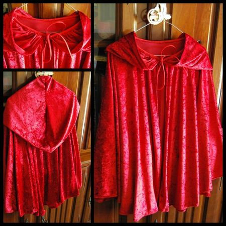 couture cape chaperon rouge
