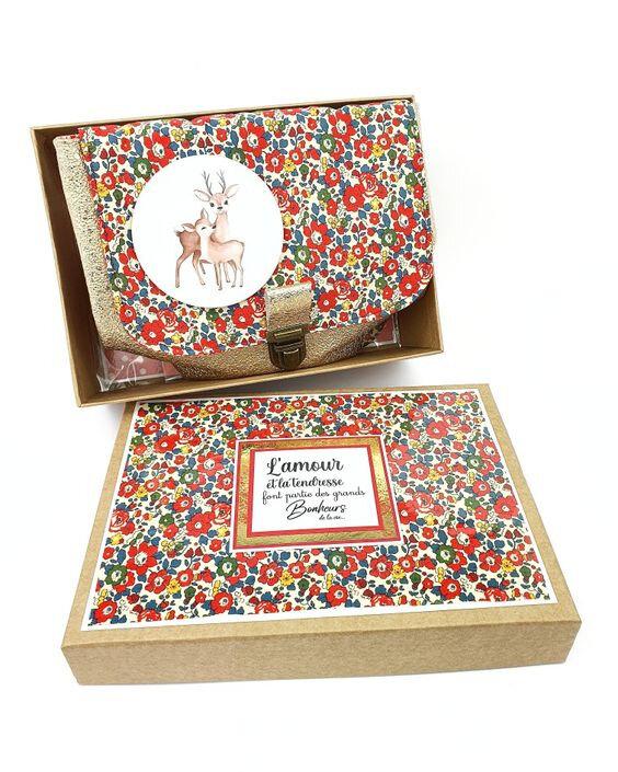 vanillejolie boite papier kraft tissu liberty of london
