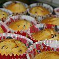 Muffins pepites de chocolat (recette de fashion cooking)