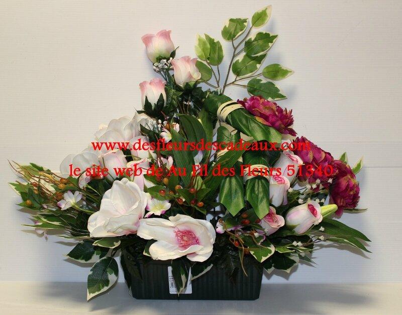 Jardinière de fleurs en tissu pour le cimetière, belle