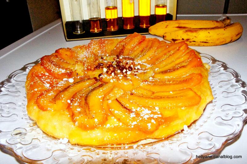 tarte banane renversée