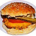 Hamburger 100% maison avec la sauce big mac