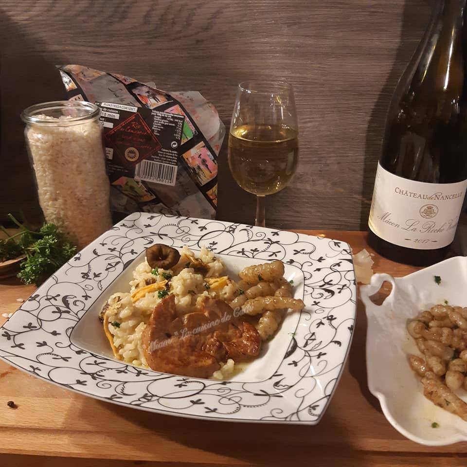 """ღ """" MIAM """" Risotto aux chanterelles et escalopes de foie gras poêlées"""