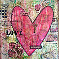 Love - tableau mixed-media