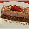 Duo de mousses chocolat-fraise