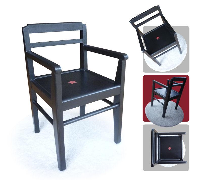 chaise noire-rouge