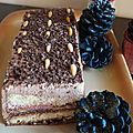 Cassata sicilienne au chocolat façon bûche glacée