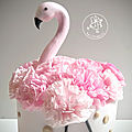 Gateau flamant rose