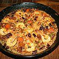 Riz au four aux gambas (arroz al horno)