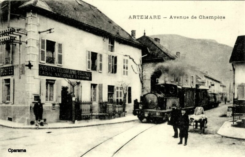Artemare le train