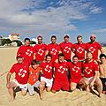 Beer - beach rugby : beer au cayockovalies à arcachon le 09 juin 2018.