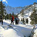 Week-end randonnée raquettes lacs de la cardinquère 7 et 8 avril