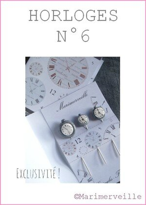 Epingles marimerveille Horloges N°6