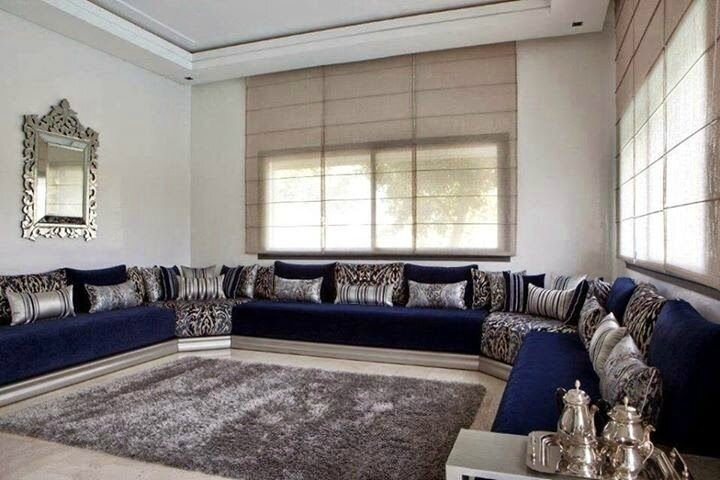 Salon royal beldi pour les riads style marocain - Design ...