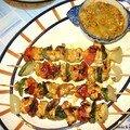 Brochettes de poulet tandoori (regime)