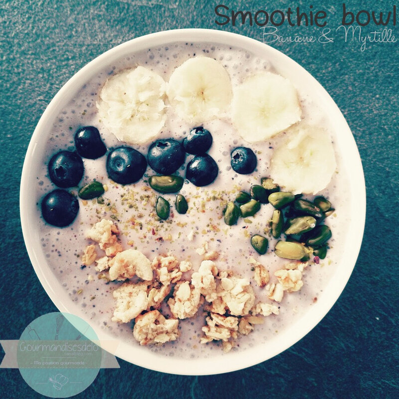 Smoothie bowl banane & Myrtille
