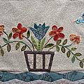 Patchwork : vases et corbeilles fleuris, bloc 11