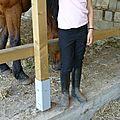 Le pantalon d'équitation de lady soussou