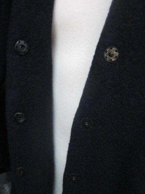 Redingote EDMONDE en laine bouillie MARINE - taille 56 (18)