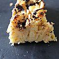 gâteau pommes coco chocolat