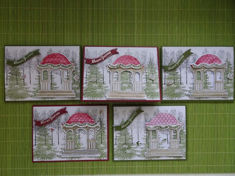 19a'' Atelier Carte Pavillon enneigé