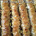 Baklawa rolls pistache & baklawa rolls noisette ♥
